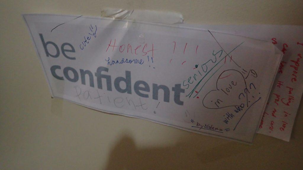 先生がくれた「Be confident」自信を持って!という意味